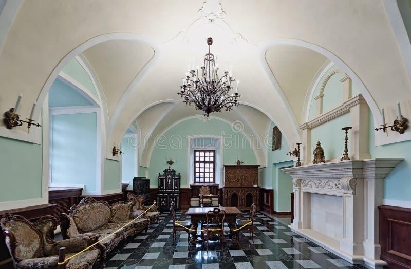 Wnętrze Zbarazh kasztel w Zbarazh miasteczku w Ukraina, obrazy royalty free