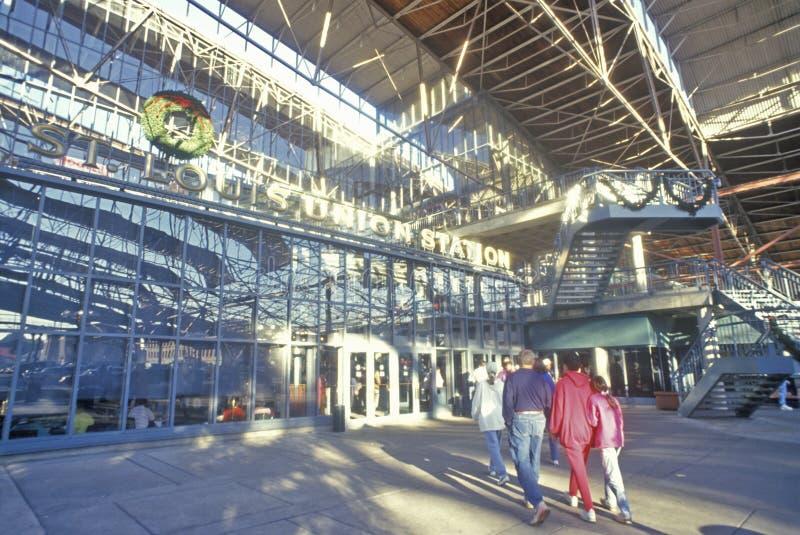 Wnętrze zjednoczenie staci centrum handlowe, St Louis, MO zdjęcia royalty free