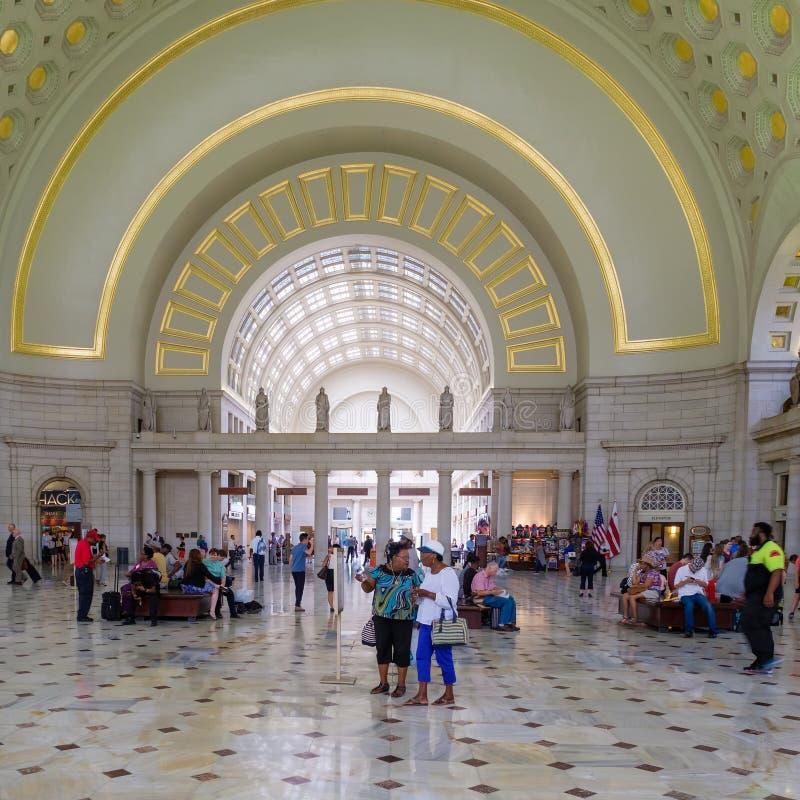 Wnętrze zjednoczenie stacja w Waszyngtońskim d C obrazy stock