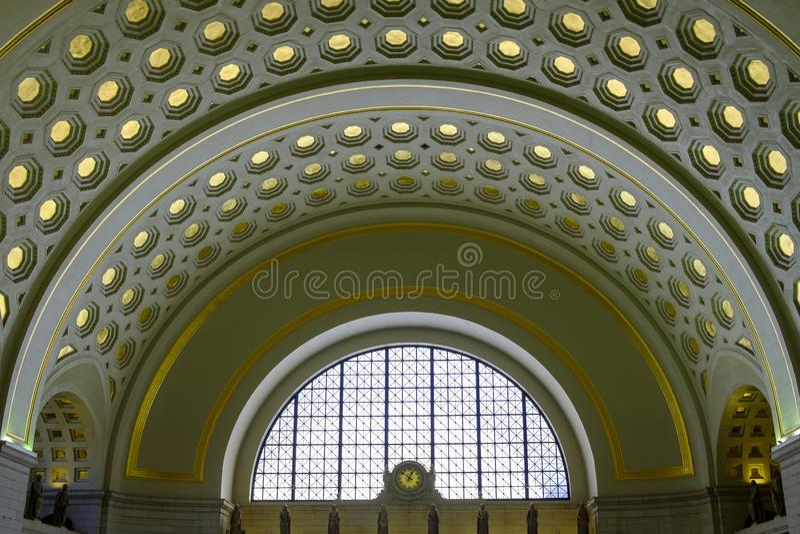 Wnętrze zjednoczenie stacja Washington, DC fotografia royalty free
