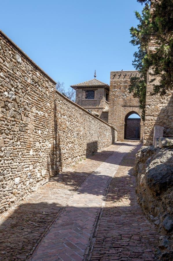 Download Wnętrze Alcazaba Malaga, Hiszpania Obraz Stock - Obraz złożonej z cumuje, kasztel: 41954155