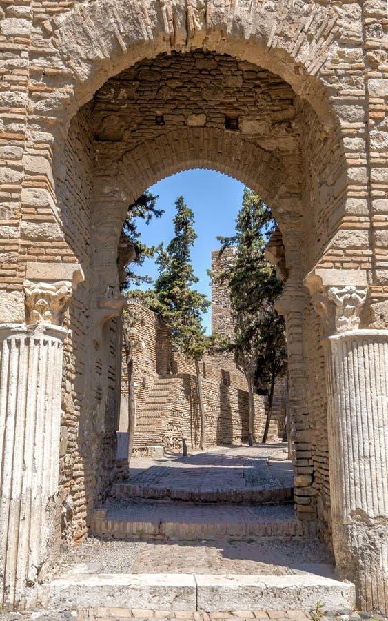Download Wnętrze Alcazaba Malaga, Hiszpania Obraz Stock - Obraz złożonej z ogród, europejczycy: 41954317