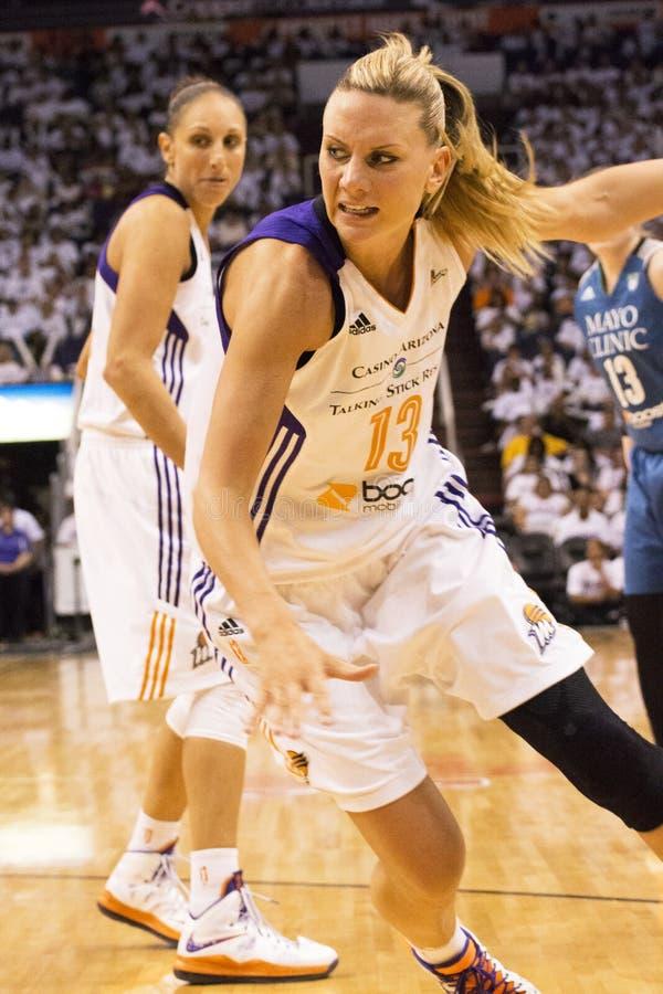 WNBA菲尼斯围绕其中一的水星胜利决赛 库存照片
