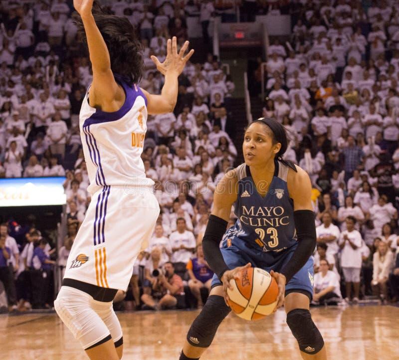 WNBA Phoenix Mercury Win Round One de finales fotografía de archivo libre de regalías