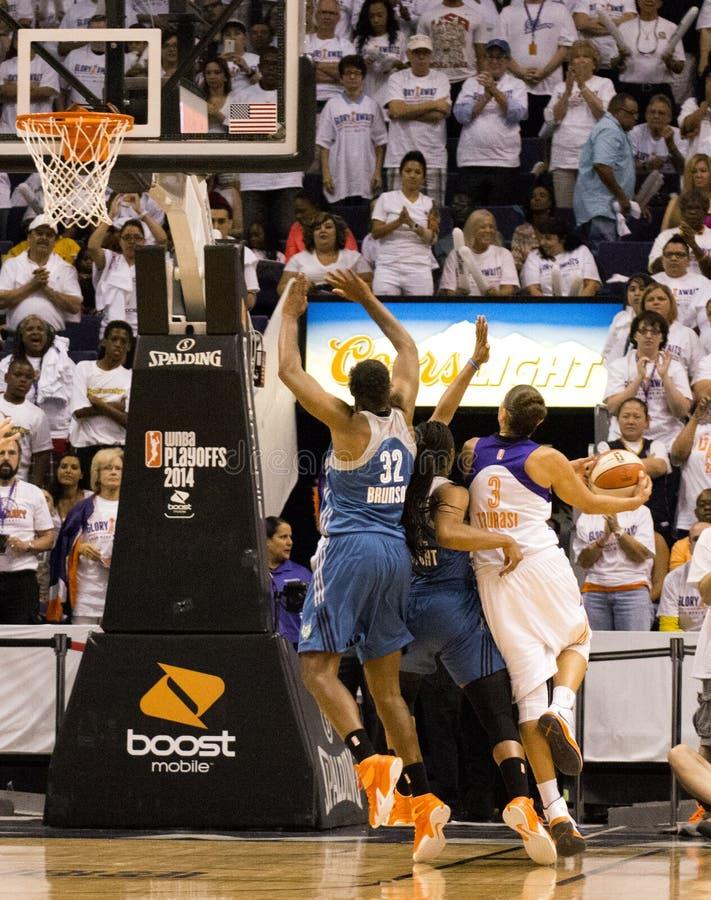 WNBA Phoenix Mercury Win Round One van Def. stock afbeelding