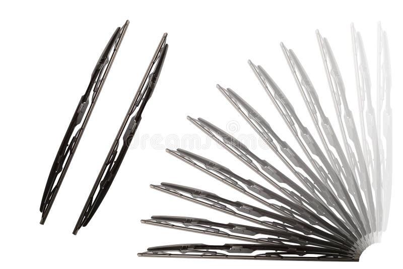 Wndscreenwissers op een witte achtergrond stock afbeelding