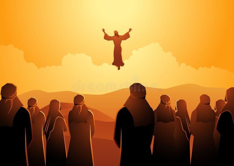 Wniebowstąpienie Jezus ilustracja wektor