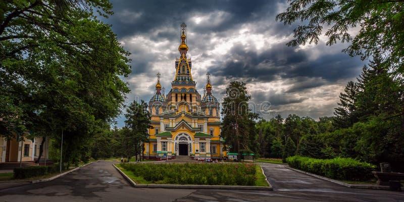 Wniebowstąpienie katedra w Almaty zdjęcia royalty free