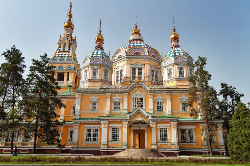 Wniebowstąpienie katedra w Almaty fotografia royalty free