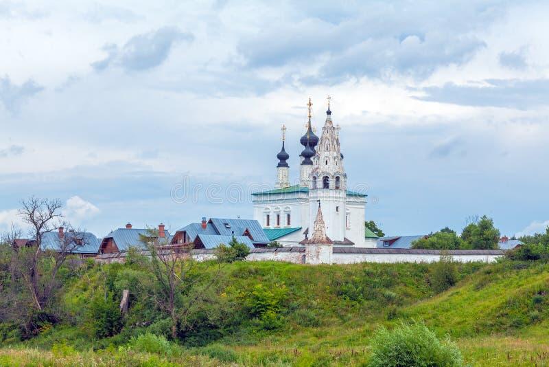 Wniebowstąpienie kościół Aleksander monaster, Suzdal fotografia royalty free