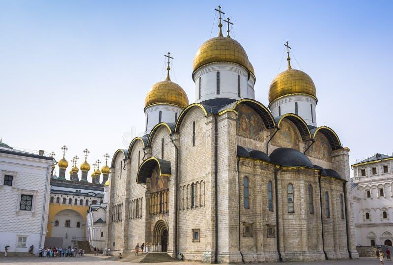 Wniebowzięcie katedra Moskwa Kremlin obrazy royalty free
