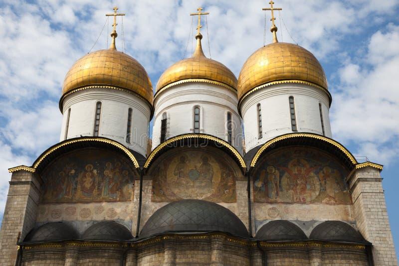 Wniebowzięcie katedra, Moskwa Kremlin, Rosja. obrazy stock
