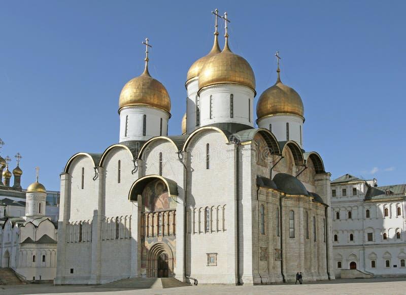Wniebowzięcie Katedra, Moskwa Kremlin Rosja zdjęcie stock