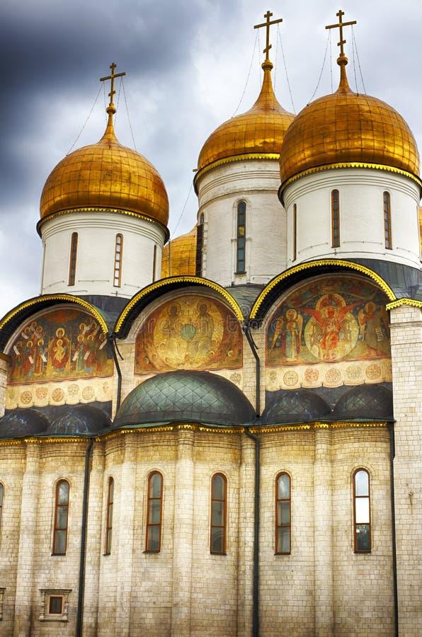 Wniebowzięcie katedra w Kremlin, Moskwa, Rosja obrazy stock