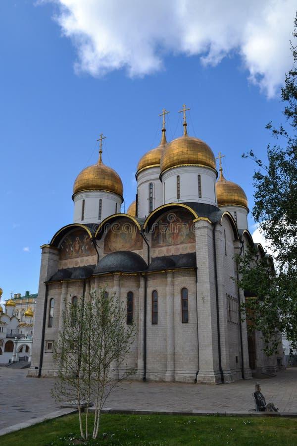 Wniebowzięcie Katedralnego Kremlowskiego Moskwa, Rosja ortodoksyjny kościół obrazy stock