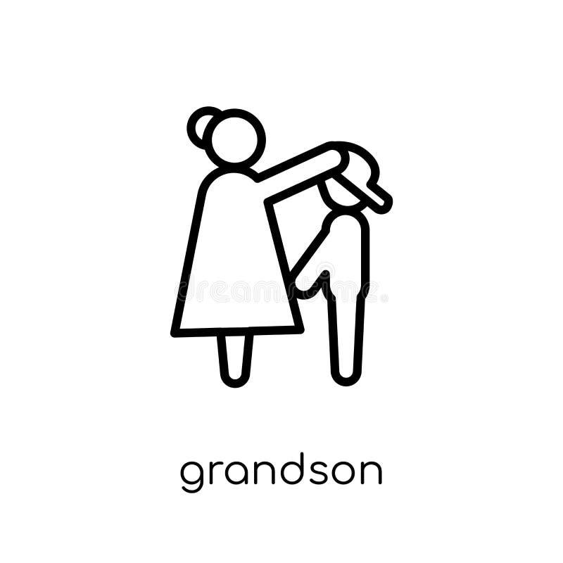 wnuk ikona Modna nowożytna płaska liniowa wektorowa wnuk ikona dalej ilustracja wektor