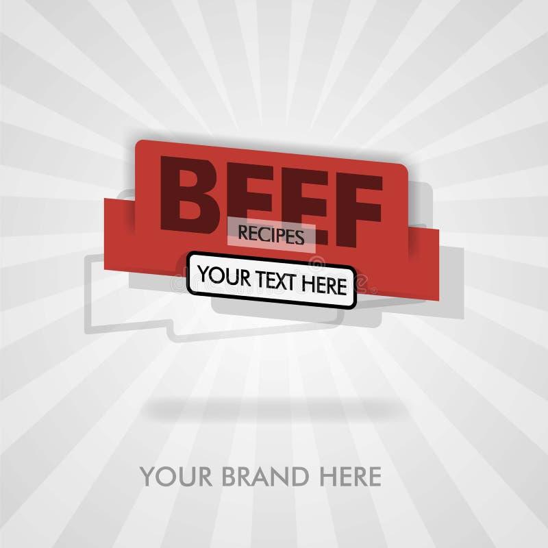Wołowina przepisy dla wołowina grilla amerykańska wołowina wołowiny opieczenia tradycyjni przepisy może być dla promocji, reklama royalty ilustracja