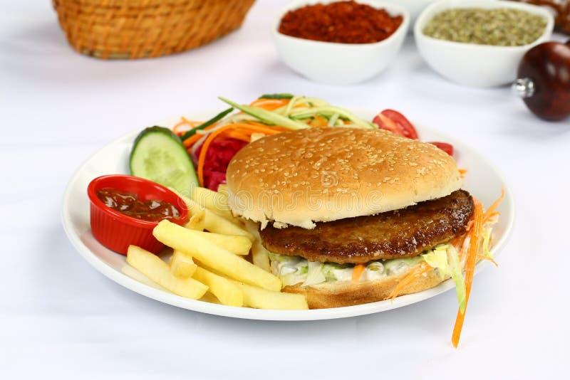 Wołowina Domowej roboty hamburger obraz royalty free