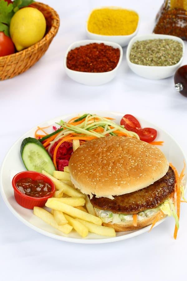 Wołowina Domowej roboty hamburger zdjęcie stock