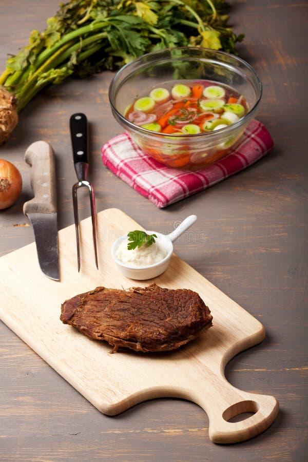 wołowina gotująca się prima obraz stock