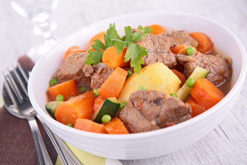Wołowina gulasz, goulash zdjęcia stock