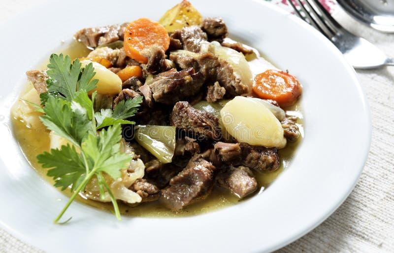 Wołowina gulaszu kebab obraz royalty free