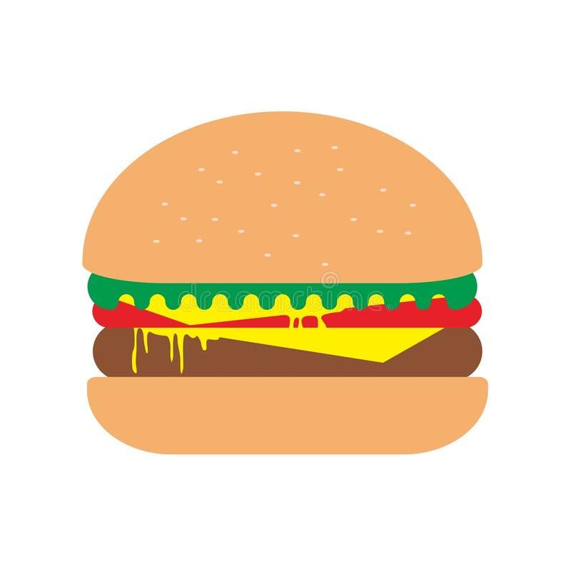 Wołowina hamburger z dwoistymi plasterkami ser obraz royalty free