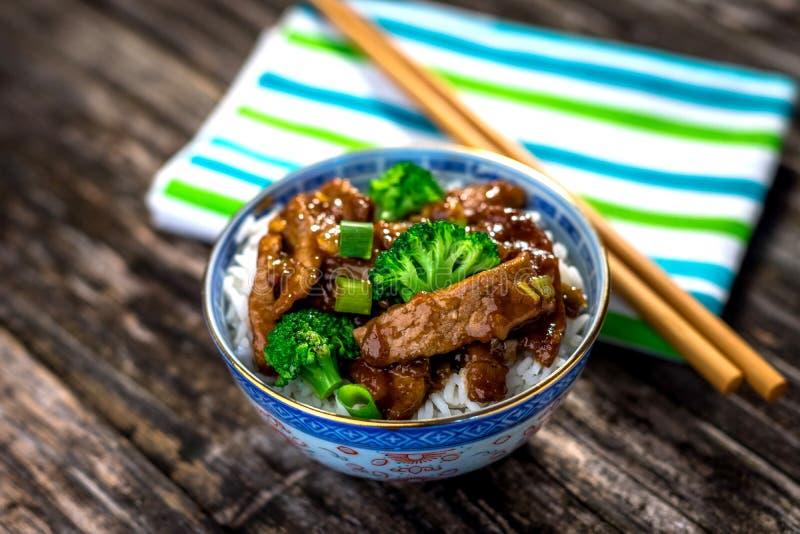 Wołowina i ryż zdjęcia royalty free