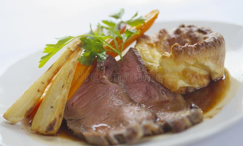 wołowina kolację pieczeń zdjęcie stock