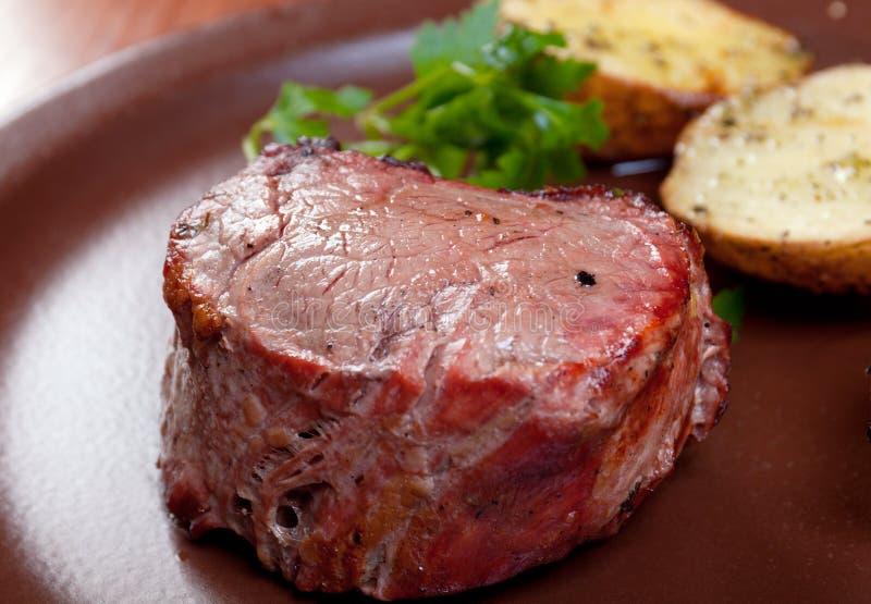 wołowina piec na grillu zdjęcia stock
