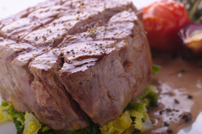 Wołowina Polędwicowy stek zdjęcia stock