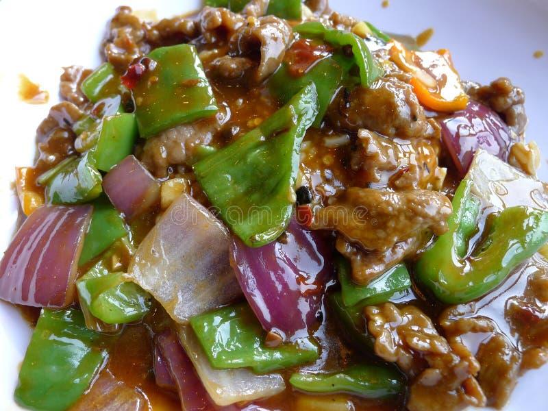 Wołowina ryż zdjęcie royalty free