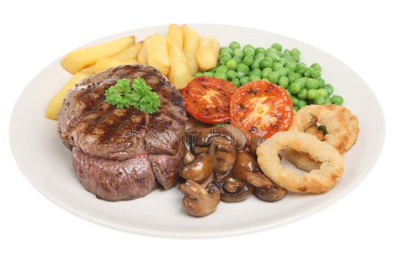 wołowina stek obiadowy polędwicowy zdjęcia royalty free