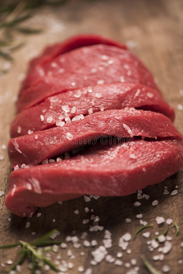 wołowina surowy stek fotografia royalty free