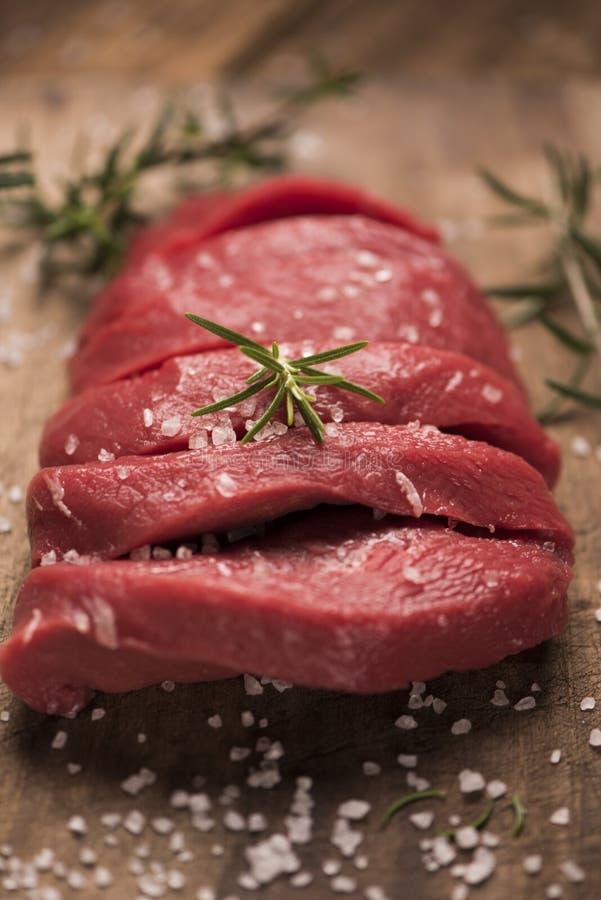 wołowina surowy stek zdjęcie stock