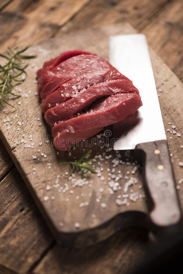 wołowina surowy stek zdjęcia royalty free