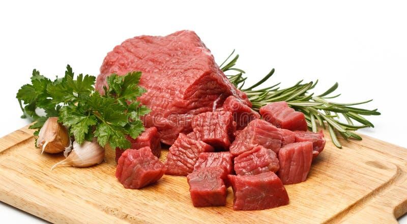 wołowina sześciany zdjęcie royalty free