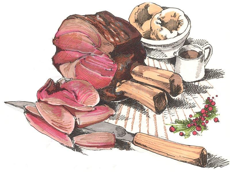 wołowina ziobro ilustracja wektor
