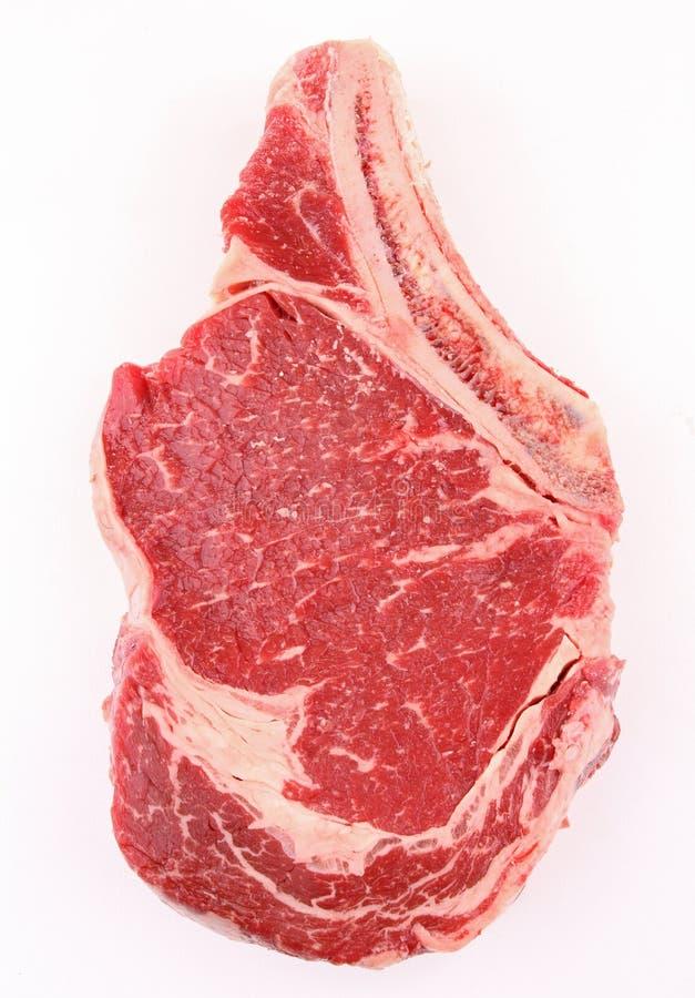 wołowina ziobro odosobniony surowy obraz stock