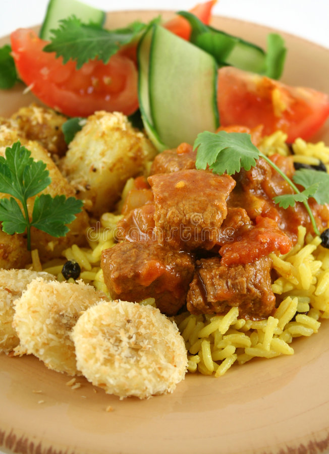 wołowiny 2 vindaloo curry obraz royalty free