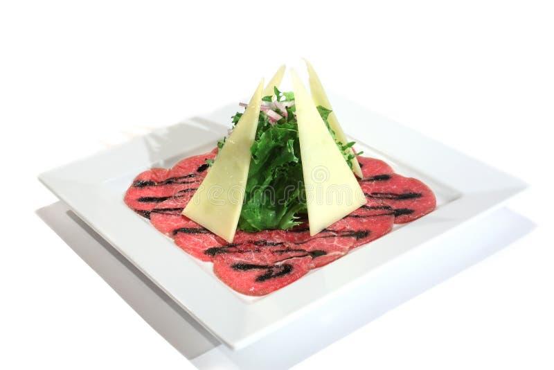 wołowiny carpaccio naczynia włocha marmur obraz stock