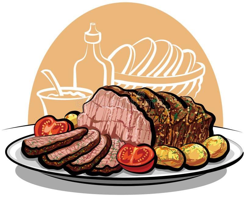 wołowiny grul pieczeń royalty ilustracja