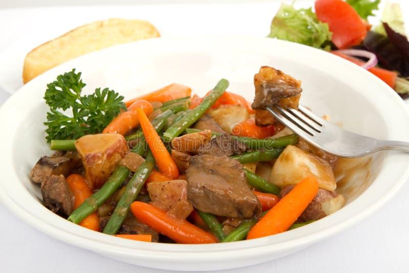 wołowiny gulaszu warzywa fotografia stock