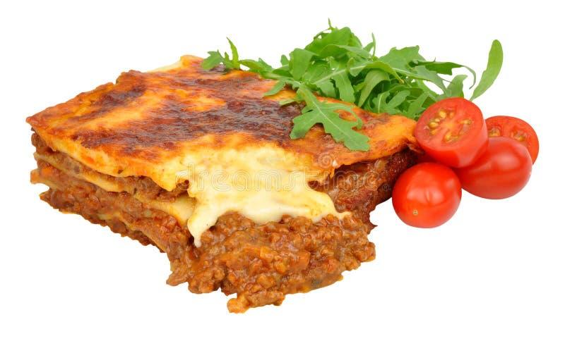 Wołowiny Lasagne Z sałatą I pomidorami zdjęcia royalty free