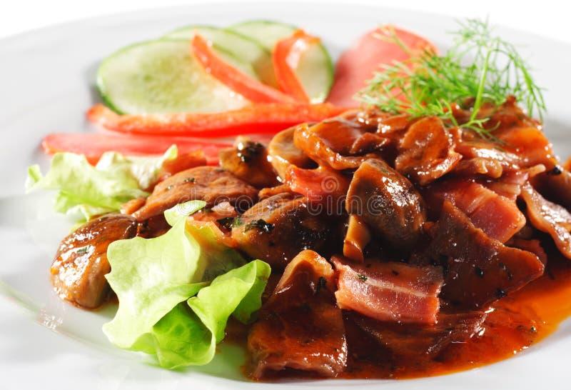 wołowiny naczyń gorący mięsny gulasz fotografia royalty free