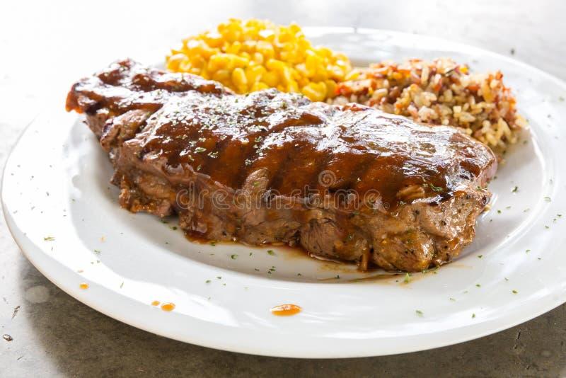 Wołowiny Nowy Jork stek obrazy stock