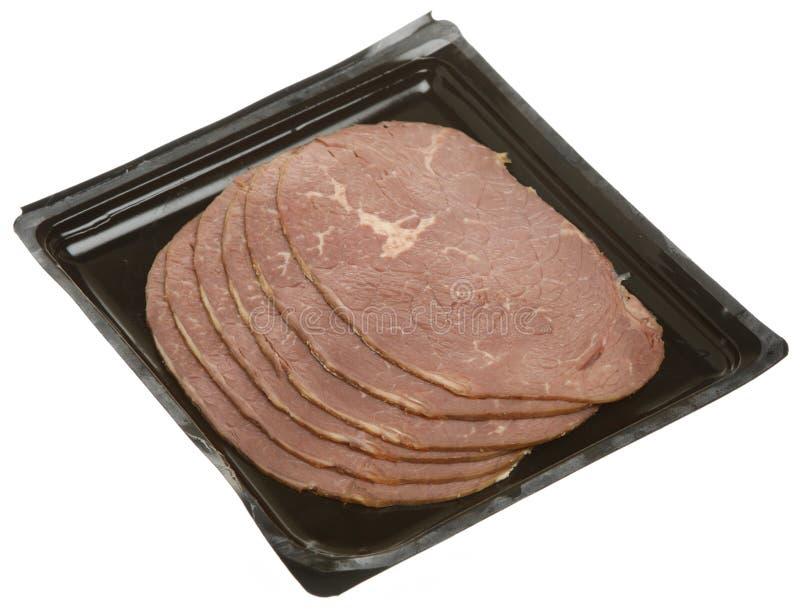 wołowiny pieczeni plasterki obraz stock