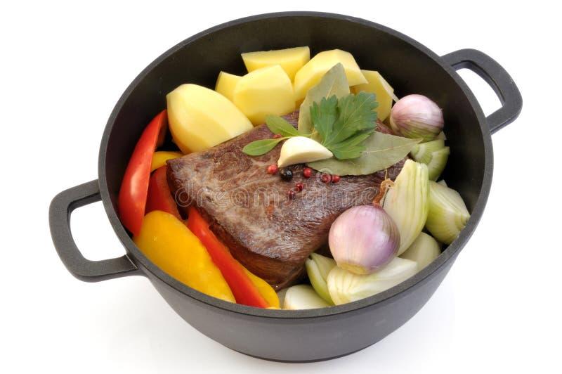 wołowiny pieczeni warzywa zdjęcie royalty free