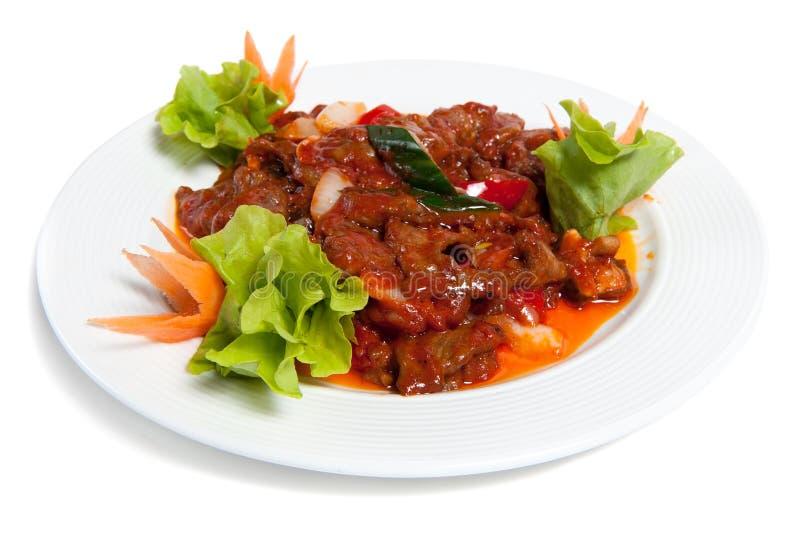 wołowiny talerz piec warzywa obraz stock