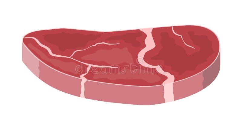 Wołowiny tenderloin wieprzowina knykieć ilustracja wektor